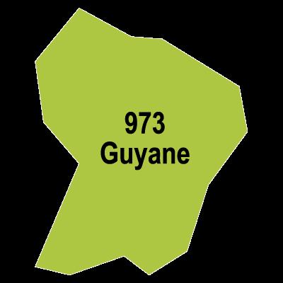 Guyane map